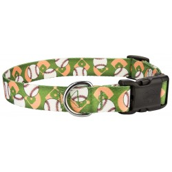 Deluxe Baseball Dog Collar