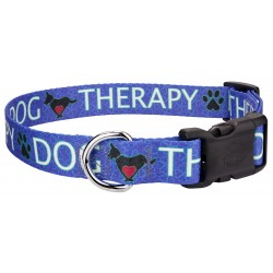 Deluxe Blue Therapy Dog Collar