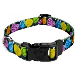 Deluxe Black Valentine's Candy Dog Collar
