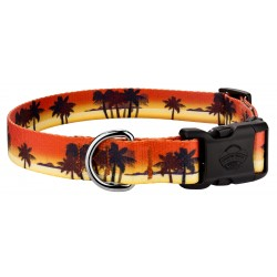 Deluxe Caribbean Sunset Dog Collar