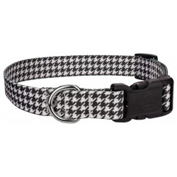 Deluxe Houndstooth Dog Collar