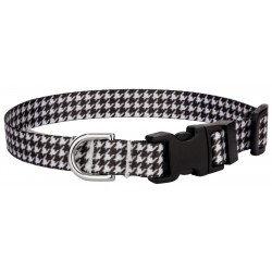 Houndstooth Feather Weight Deluxe Dog Collar - Extra Small