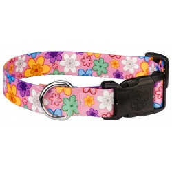 Deluxe May Flowers Dog Collar