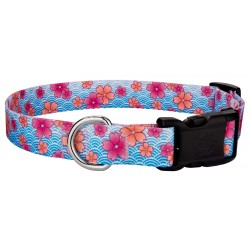 Deluxe Pink April Blossoms Dog Collar