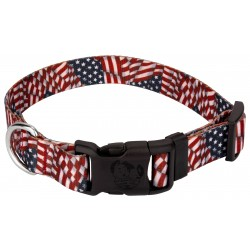 Patriotic Tribute Deluxe Dog Collar
