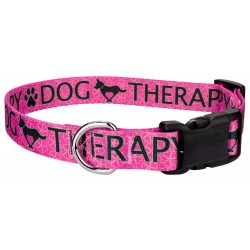 Deluxe Pink Therapy Dog Collar