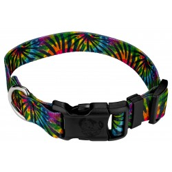 Deluxe Tie Dye Stripes Dog Collar
