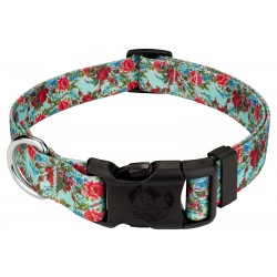 Deluxe Vintage Roses Dog Collar