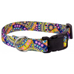 Deluxe Yellow Boho Mandala Dog Collar