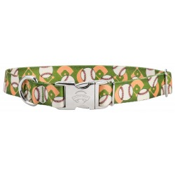 Premium Baseball Dog Collar - Large