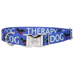 Premium Blue Therapy Dog Collar