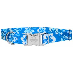 Premium Blue Hawaiian Dog Collar