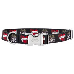 Premium I Love Mom Dog Collar