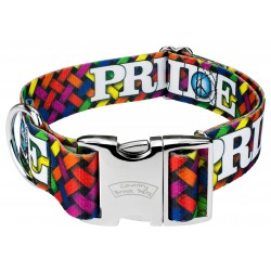 1 1/2 Inch Premium Pride and Peace Dog Collar