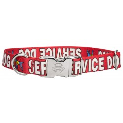 Premium Red Service Dog Collar