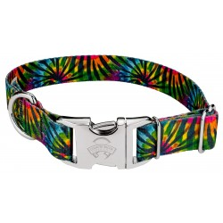 Premium Tie Dye Stripes Dog Collar
