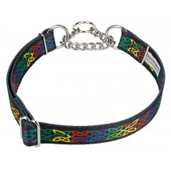Celtic Pride Half Check Dog Collar