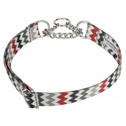 10 - Sundry Chevrons Half Check Dog Collars - Medium