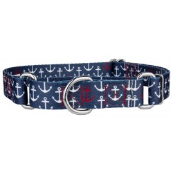 Anchors Away Martingale Dog Collar