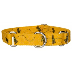 Busy Bee Martingale Dog Collar