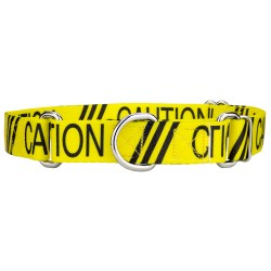 Yellow Caution Martingale Dog Collar
