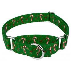 Candy Cane Christmas Martingale Dog Collar
