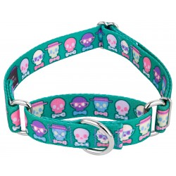 Dapper Skulls Martingale Dog Collar