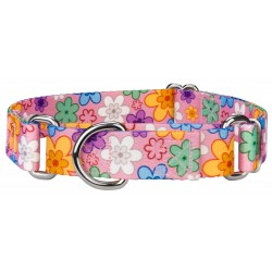 May Flowers Featherweight Martingale Dog Collar - Extra Small