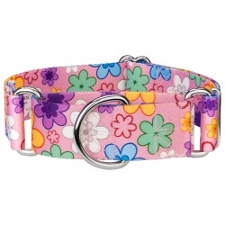 1 1/2 Inch May Flowers Martingale Dog Collar
