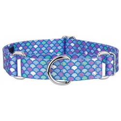 Mermaid Scales Martingale Dog Collar