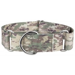 1 1/2 Inch Mountain Viper Camo Martingale Dog Collar