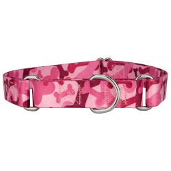 Pink Bone Camo Martingale Dog Collar