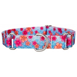 Pink April Blossoms Martingale Dog Collar