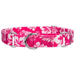 Pink Hawaiian Martingale Dog Collar