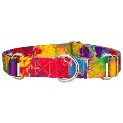 Paint Splatter Featherweight Martingale Dog Collar - Extra Small