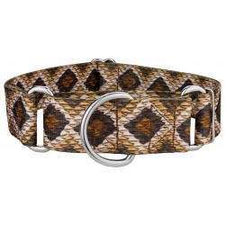 1 1/2 Inch Rattlesnake Martingale Dog Collar