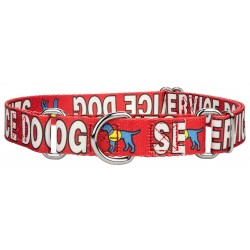 Red Service Martingale Dog Collar