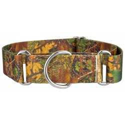 1 1/2 Inch Southern Forest Camo Martingale Dog Collar