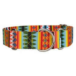 1 1/2 Inch Summer Pines Martingale Dog Collar