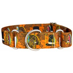 1 1/2 Inch Thanksgiving Tradition Martingale Dog Collar