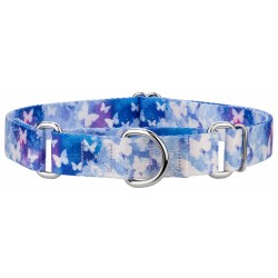 Watercolor Butterflies Martingale Dog Collar