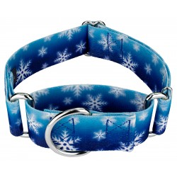 1 1/2 Inch Winter Wonderland Martingale Dog Collar
