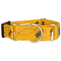 1 1/2 Inch Busy Bee Martingale With Deluxe Buckle
