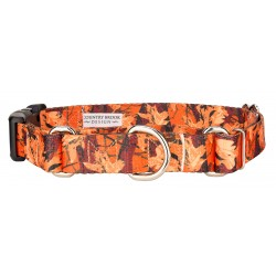 Orange Sunset Camo Martingale with Deluxe Buckle