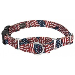 Patriotic Tribute Martingale with Deluxe Buckle