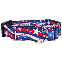 1 1/2 Inch Star Spangled Martingale With Deluxe Buckle