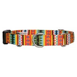 Summer Pines Martingale With Deluxe Buckle Dog Collar