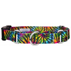Tie Dye Stripes Martingale with Deluxe Buckle