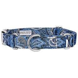 Blue Paisley Martingale with Premium Buckle
