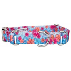 Pink April Blossoms Martingale with Premium Buckle